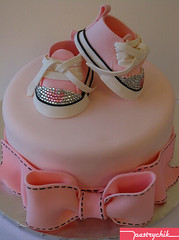 Posh Princess Baby Shoe Cake photo by Pastrychik