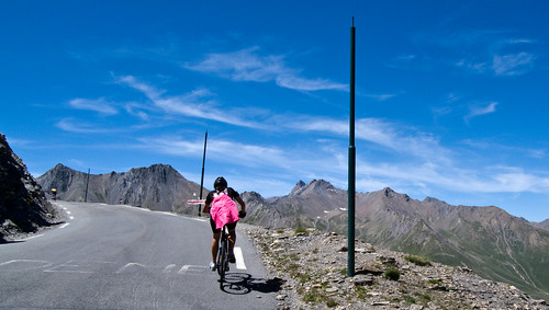 Doreen near top of Galibier