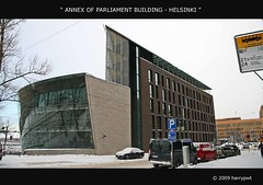 annex of parliament building - helsinki photo by harrypwt