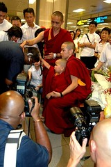 Blessing in Changi Airport photo by Tenzin Phuntsok Rinpoche