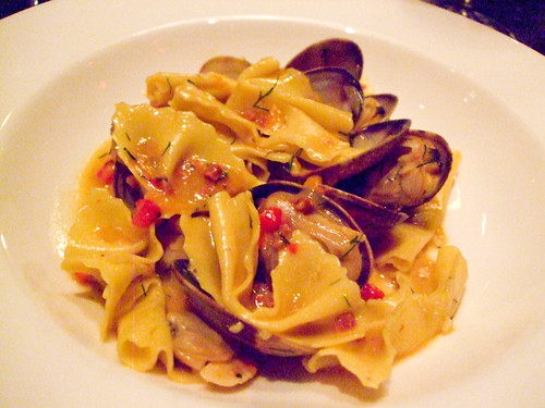 Homemade Farfalle with Clams, Locanda Verde