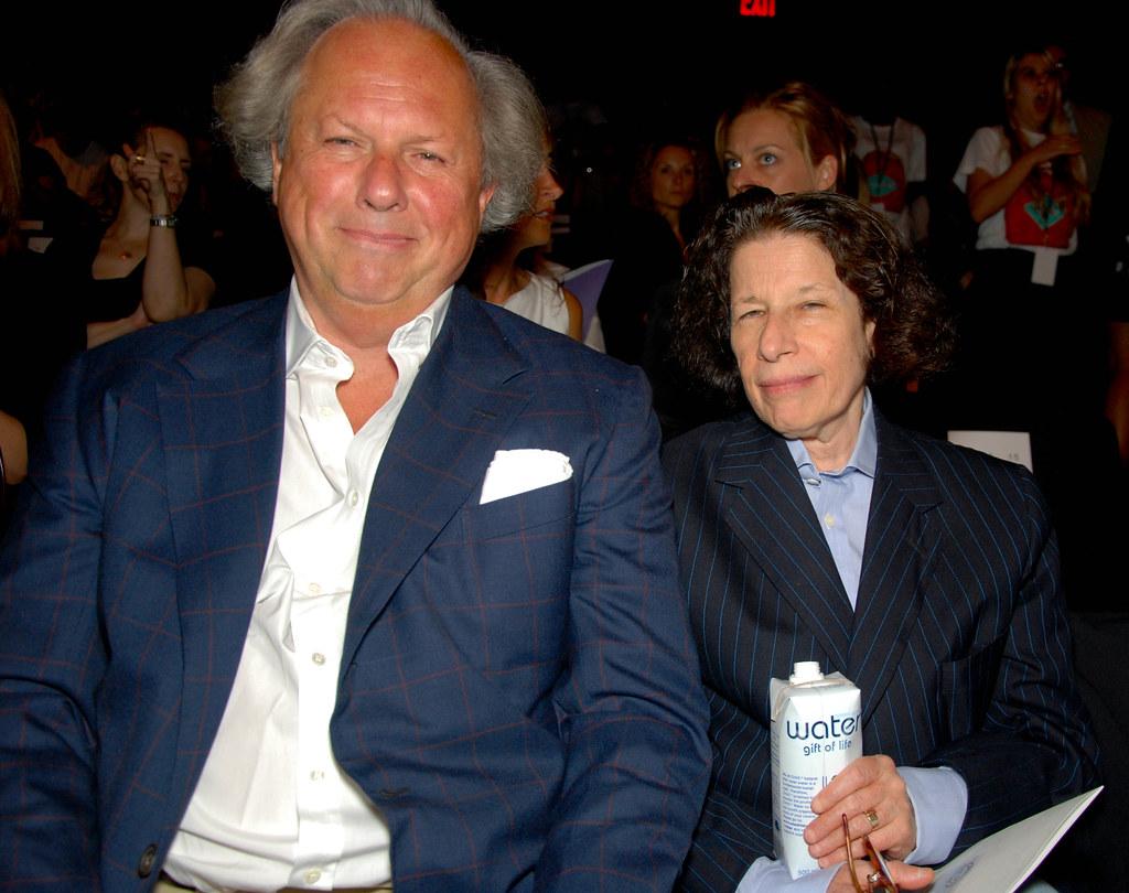 Graydon Carter and Fran Lebowitz, Diane von Furstenberg Front Row