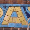 aa gold blue mosaic tile