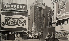 Times Square 1952 Pepsi Cola Sign Ruppert Beer New York City Vintage photo by Christian Montone
