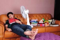 studying & sleeping
