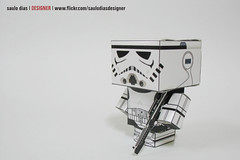 paper toy storm trooper photo by saulo dias |designer|