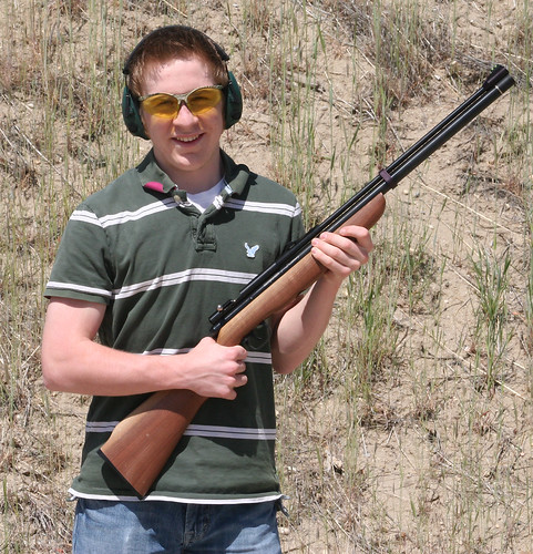 Dallon holding gun 2