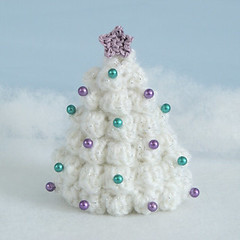 crocheted Christmas tree (white) photo by planetjune