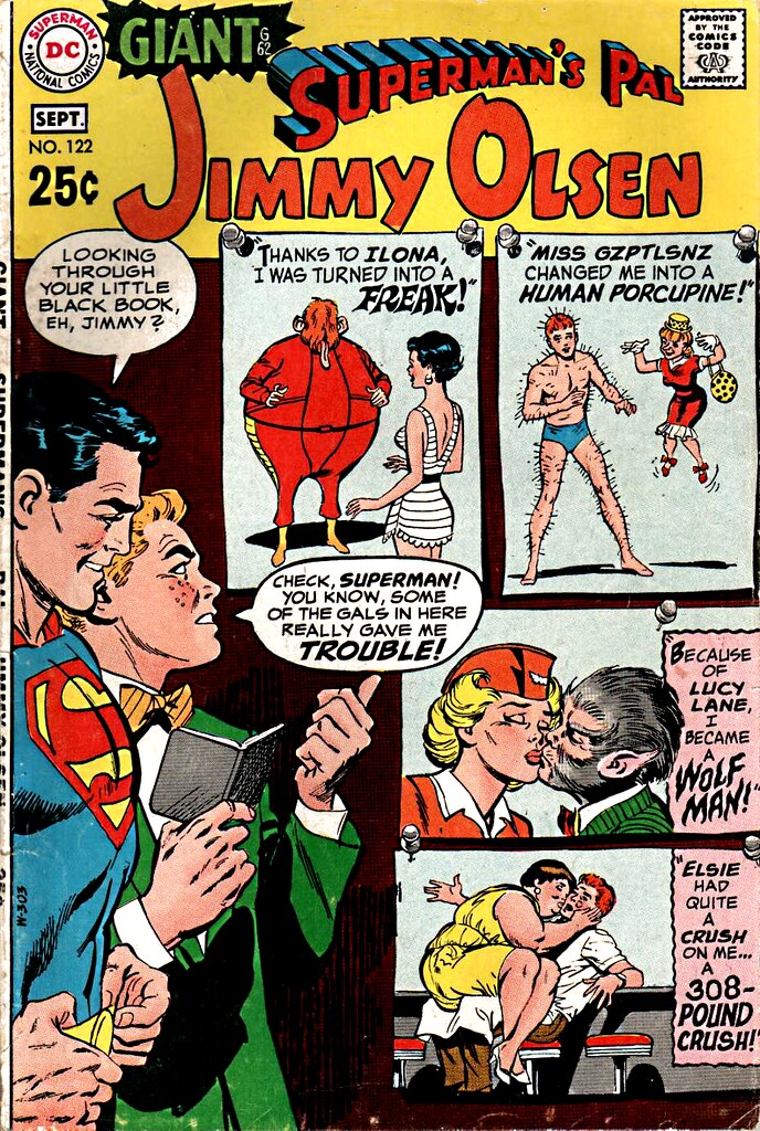 Jimmy Olsen 122 giant cover by Neal Adams