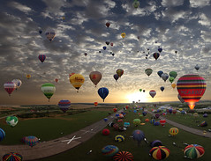 The largest hot-air balloon gathering in the world, Chambley, France. So far today, more then 330.000 views and 7.000 Faves!t photo by Batistini Gaston
