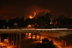 Station fire - Sat. nite photo by Karol Franks