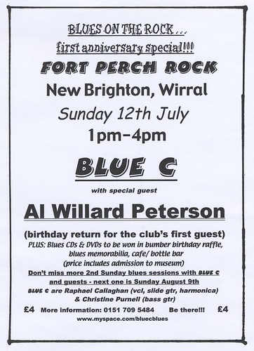 Blues at  Fort Perch Rock - 12 July 2009