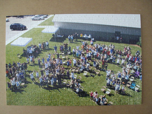 Overhead picture jigsaw puzzle