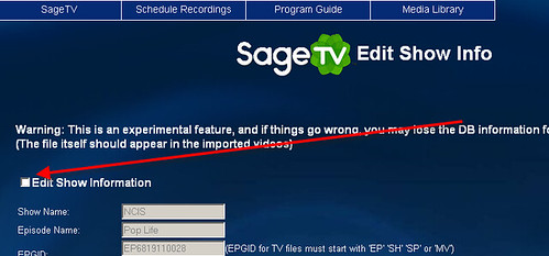 SageTV Edit Media Info 4