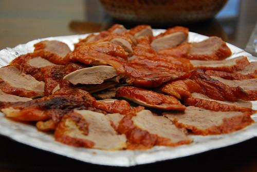 片好的鴨肉