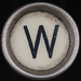 typewriter key letter W