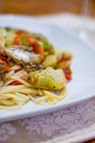 Artichoke and Sardine Pasta