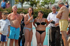Many joined Jo in her quest to enjoy a swim in the sea. Jo Brand's Big Splash in Eastbourne photo by Daves Portfolio