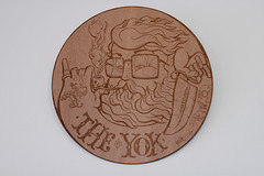 Laser wood cut fisherman photo by theyok