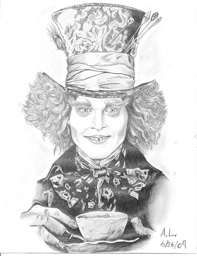 Johnny Depp: Mad Hatter-Sketch by ~SketchBookStyle on deviantART