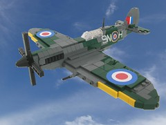 Spitfire Mk IX in flight (Final) photo by Lego Monster