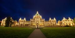 Parliament at Night, Victoria, BC photo by Cynthia.Lou