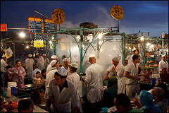 Djemaa el-Fna restaurant - Marrakech photo by Maciej Dakowicz