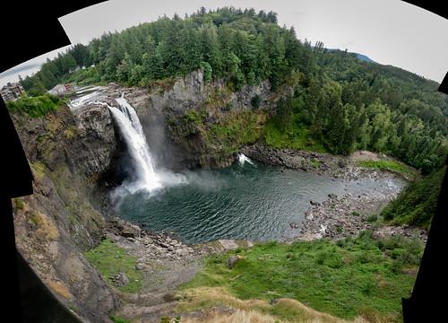 Snoqualmie Falls Stitched
