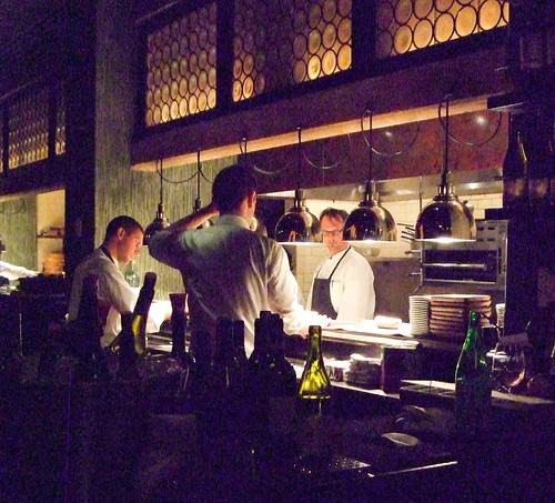 Chef Andrew Carmellini in Locanda Verde's Open Kitchen