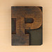 wood type letter P