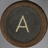 typewriter key letter A