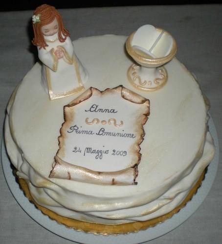 Torta Prima Comunione photo by Le dolci creazioni di Michela