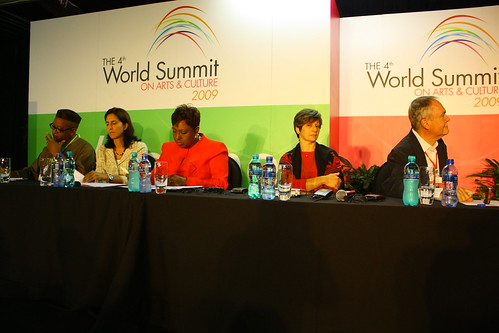 Panel discussion, day one of the 4th World Summit on Arts & Culture
