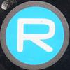 R blue squared circle