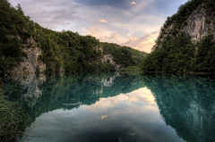 Plitvice Lakes - Sunset Reflection photo by keiththrn