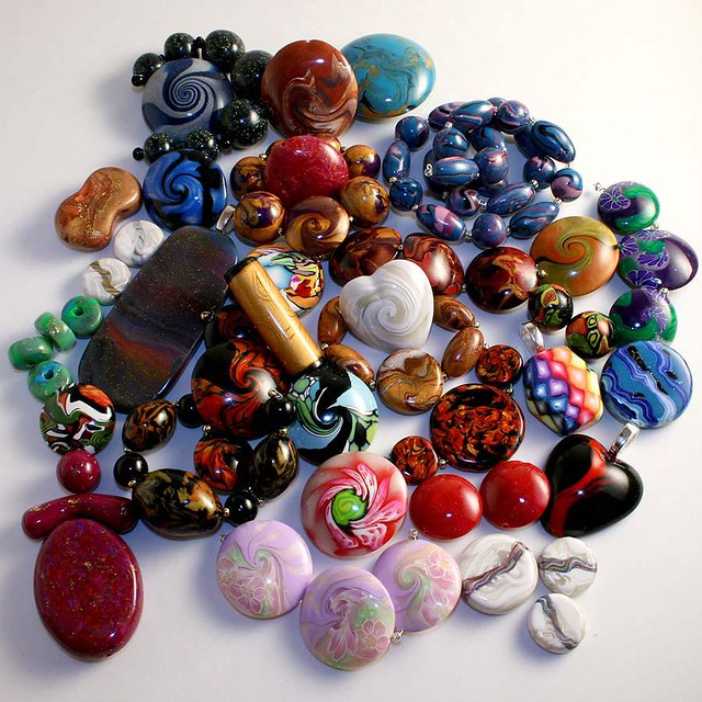 Polymer clay supplies,Polymer clay beads,Mini flowers,Miniature foods