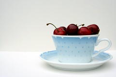 Cherries & Tea Cup photo by LoulaM