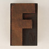 wood type letter F