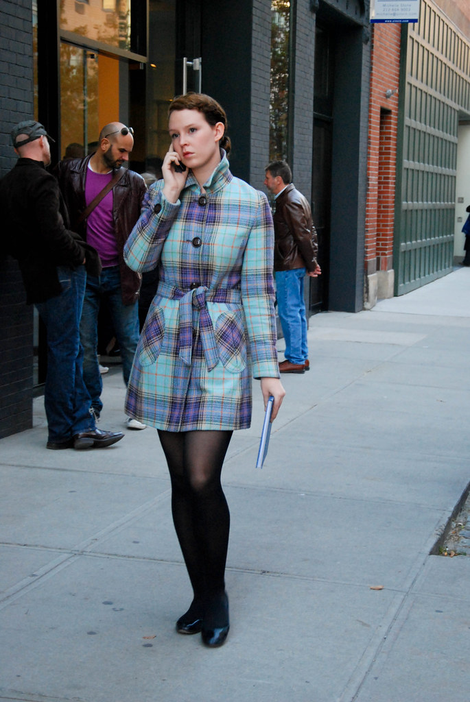 Blue Plaid Coat, West Chelsea