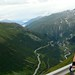 View of Grimsel hairpins from Furka