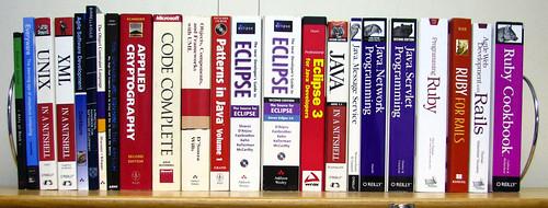 My bookshelf at work
