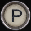 typewriter key letter P