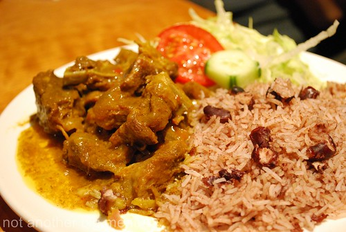 Jerk City - Curry mutton with rice and peas £7 (slowly cooked with herbs and spices)