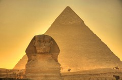 The Giza Sphinx at Sunset photo by Matt Champlin