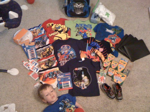 Holy Crap! He needs all that for Kindergarden?