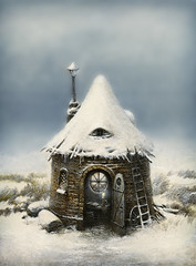 Fairy tale house in winter time photo by Yaroslav Gerzhedovich