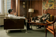 Mad Men set design: The furniture in Don Draper's office photo by SarahKaron