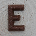 chocolate letter E