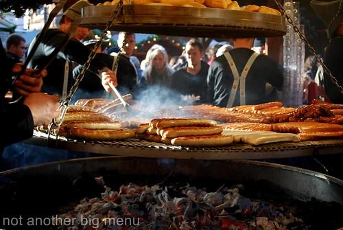 Manchester Christmas market - bratwurst stall 4