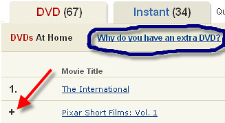 Netflix Why do you have an extra DVD?